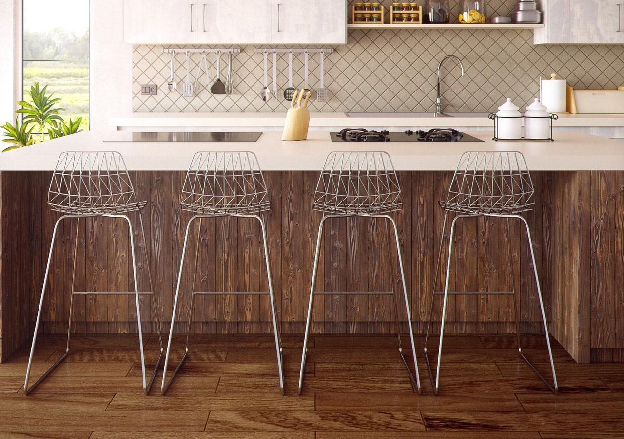 Pavimento in legno in cucina - Arredo Parquet